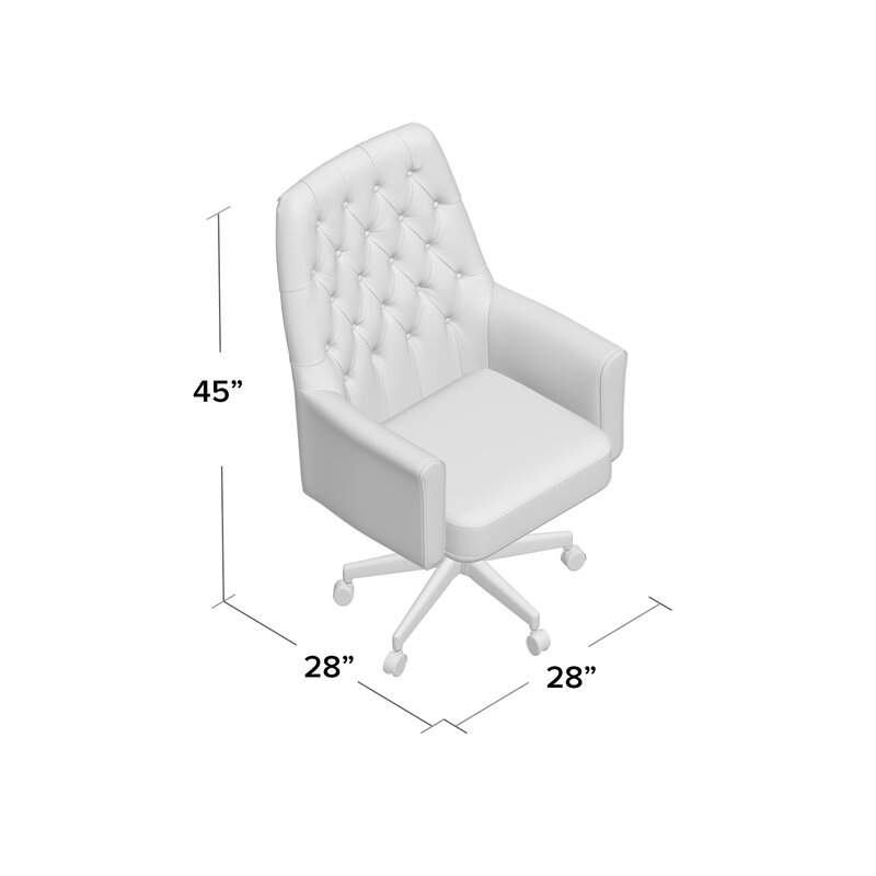 Broadwell Village Traditional Tufted Swivel High Back Executive Chair