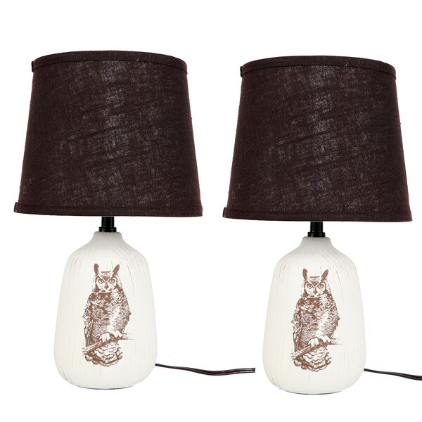 Owl Illustration 17 Table Lamp (Set of 2) by DEI