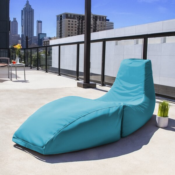 Prado Outdoor Bean Bag Chaise Lounge Chair By Jaxx
