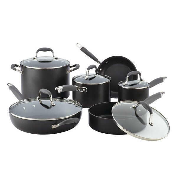 6-Piece Non-Stick Stainless Steel Cookware Set by Anolon