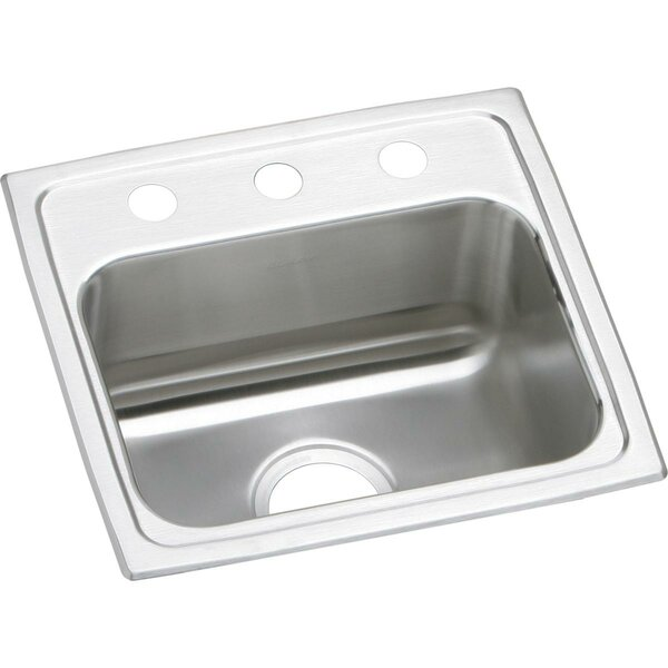 Lustertone 17 L x 16 W Drop-In Kitchen Sink by Elkay