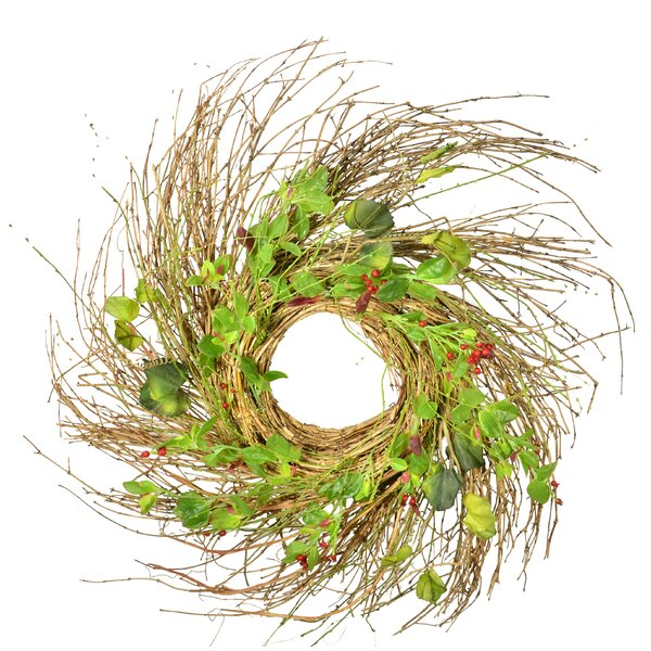 28 Green Leaf Wreath by The Holiday Aisle