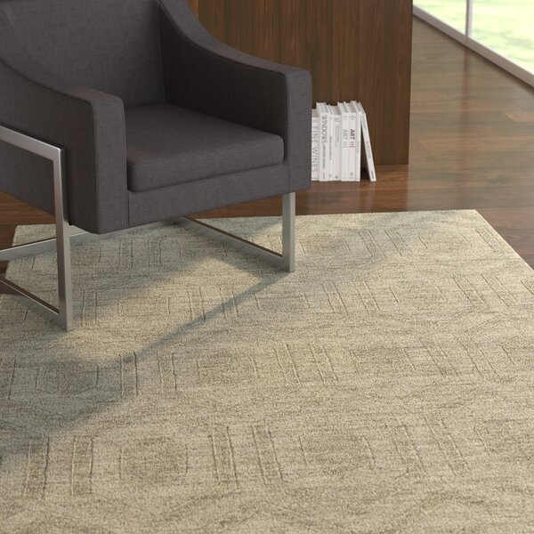 Dobson Light Brown Geometric Area Rug by Ebern Designs