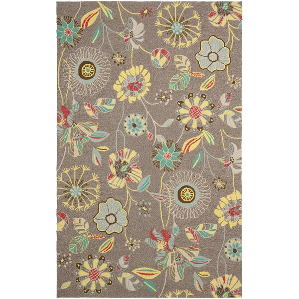 Doyle Grey & Blue Outdoor Area Rug by Winston Porter