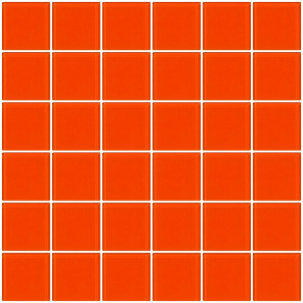 Bijou 22 2 x 2 Glass Mosaic Tile in Bright Orange by Susan Jablon