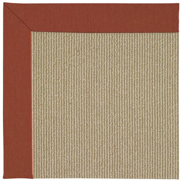 Lisle Machine Tufted Strawberry/Brown Indoor/Outdoor Area Rug by Longshore Tides