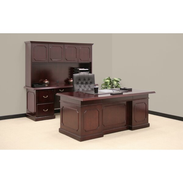 Christofor 3-Piece Traditional Standard Desk Office Suite by Darby Home Co