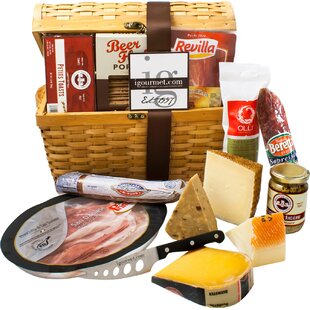 Charcuterie and Cheese Wicker Basket by igourmet