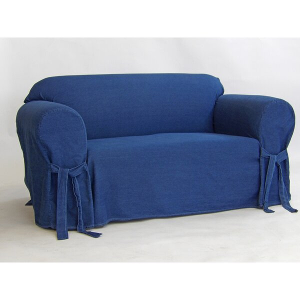 Authentic Box Cushion Loveseat Slipcover by Classic Slipcovers