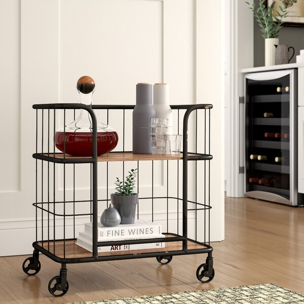 Lorient  Bar Cart by Laurel Foundry Modern Farmhouse Laurel Foundry Modern Farmhouse