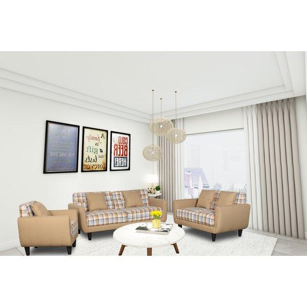 Jax 3 Piece Living Room Set by Millwood Pines Millwood Pines
