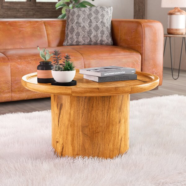 Pedestal Coffee Table By Millwood Pines