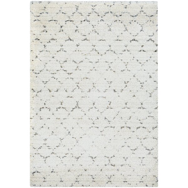 Arona Snow/Brown Area Rug by Wade Logan