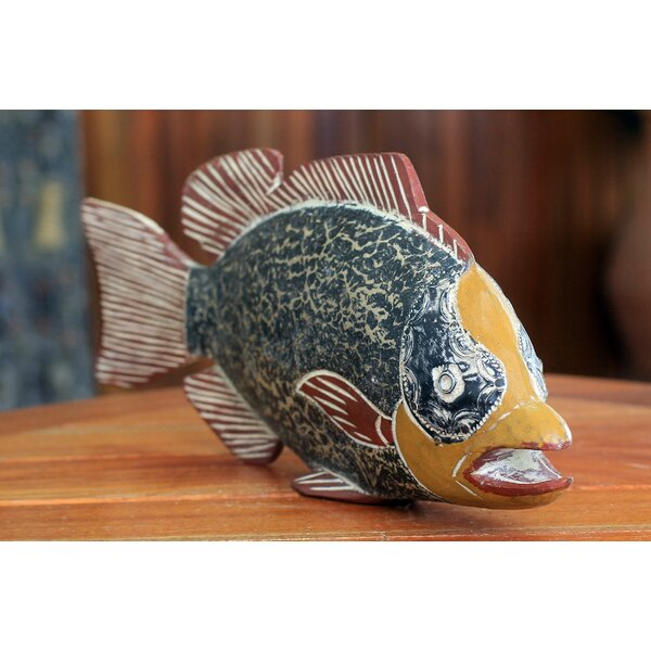 Artisan Crafted African Fish Figurine by Novica