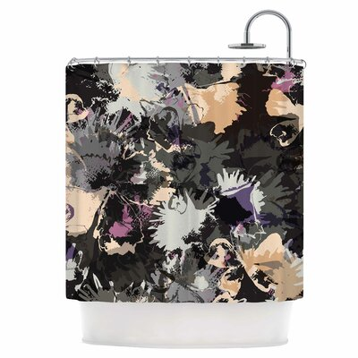 East Urban Home Punk Floral Shower Curtain