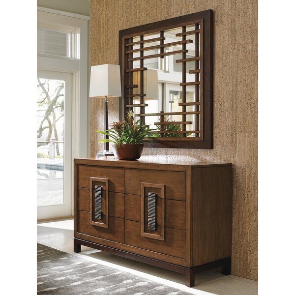 Island Fusion 6 Drawer Double Dresser with Mirror by Tommy Bahama Home