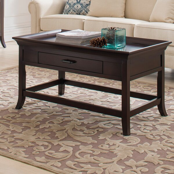 Clermont Tray Edge Coffee Table by Charlton Home