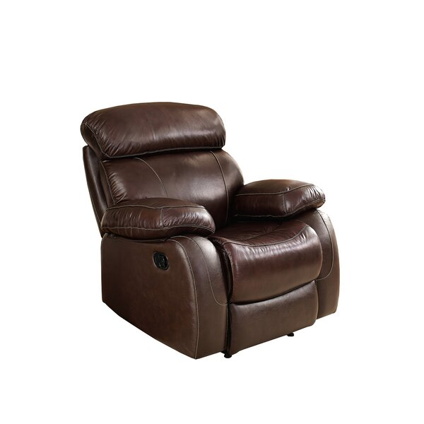 Shum Leather Power Recliner [Red Barrel Studio]