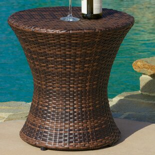 Compare prices Grayling Wicker Side Table ByBeachcrest Home