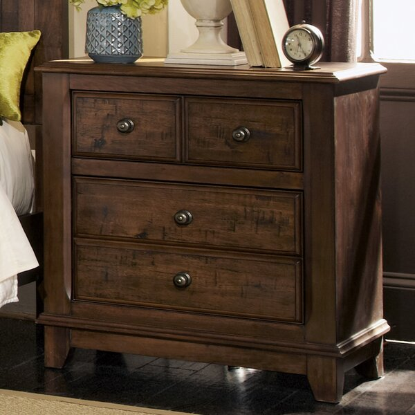 Lando 2 Drawer Nightstand by Millwood Pines
