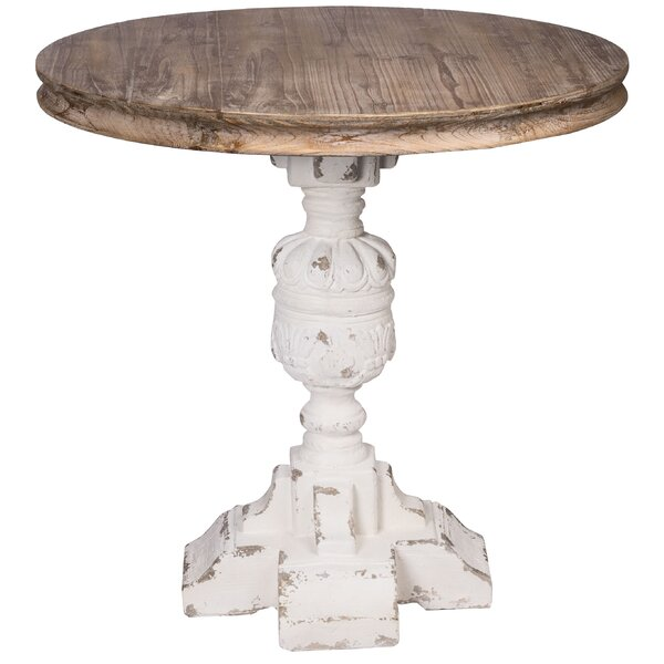 Birdwell French Country Table - White, Natural by Ophelia & Co. Ophelia & Co.
