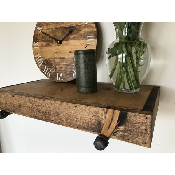 Whitestone Rustic Industrial Wall Shelf by Gracie