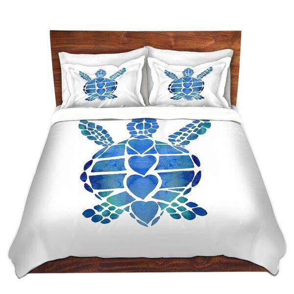 Turtle Love Blue Duvet Cover Set
