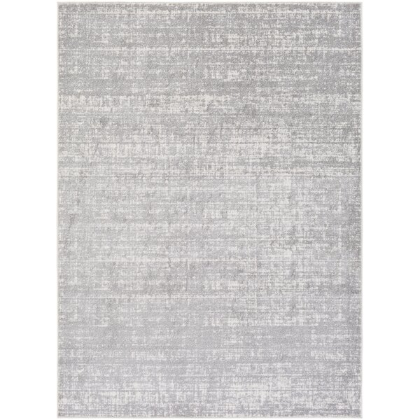 Zellmer Hand-Woven Gray/Ivory Area Rug by George Oliver