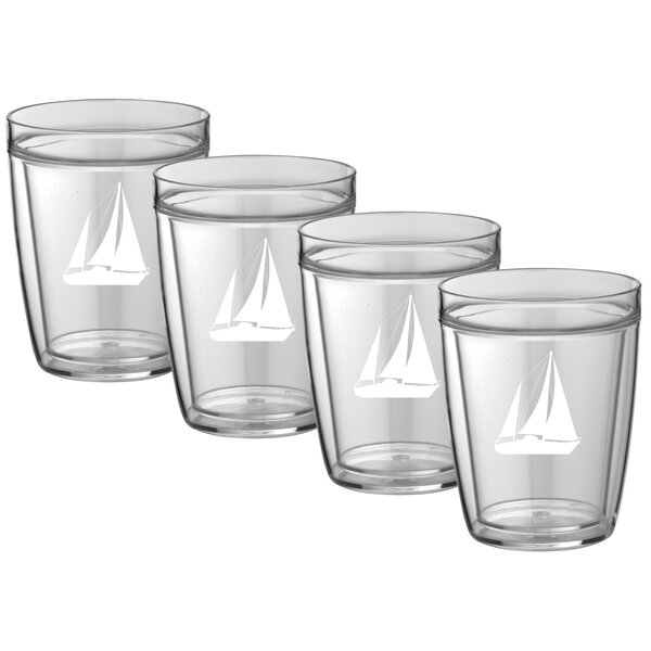 Farrington Gurney Sailboat Plastic Every Day Glass (Set of 4) by Breakwater Bay