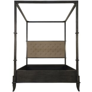 New London Upholstered Canopy Bed by Noir