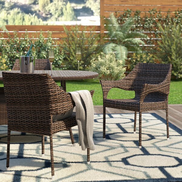 Abby Stacking Patio Dining Chair (Set of 2) by Wade Logan