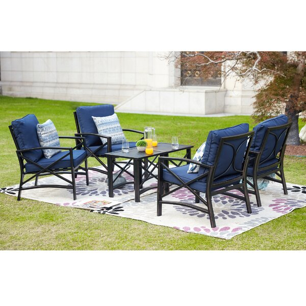 Strauser 6 Piece Multiple Chairs Seating Group with Cushions by Charlton Home