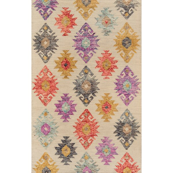 Laughlin Hand-Tufted Wool Beige Area Rug by World Menagerie