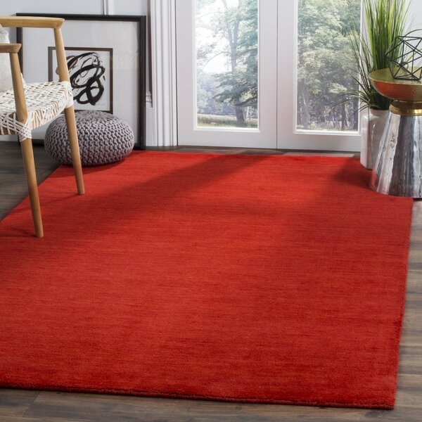 Aghancrossy Hand-Loomed Red Area Rug by Langley Street