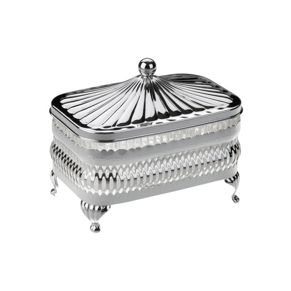 Queen Anne 2 Piece Oblong Butter Dish by Corbell Silver Company