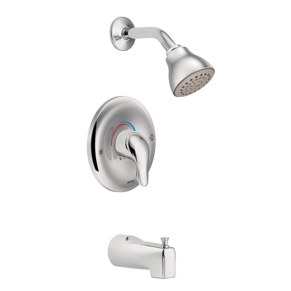 Chateau Eco-Performance Tub and Shower Faucet with Lever Handle by Moen Moen