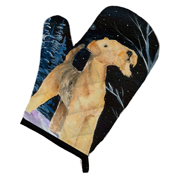 Starry Night Airedale Oven Mitt by Caroline's Treasures