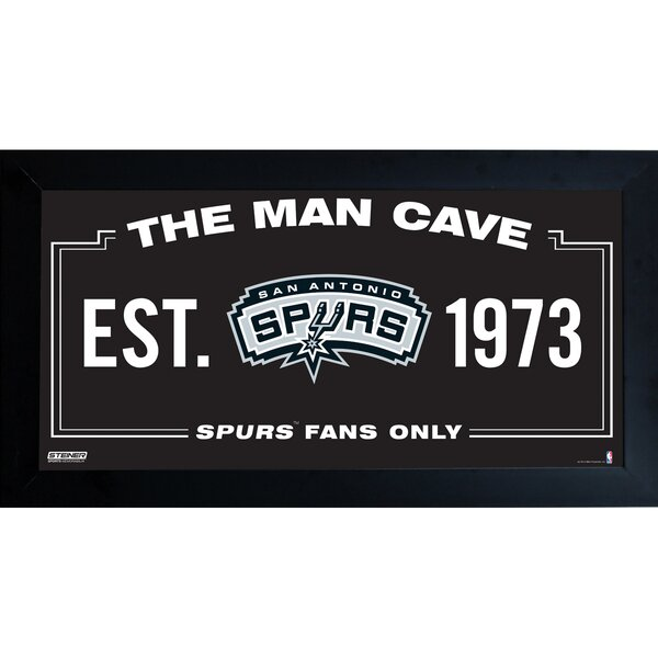 NBA Framed Man Cave Sign Memorabilia by Steiner Sports