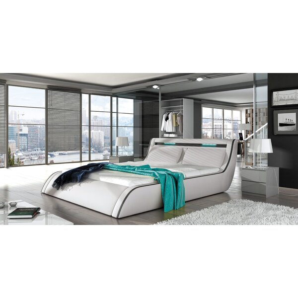 Waynesboro King Upholstered Storage Sleigh Bed with Mattress by Orren Ellis