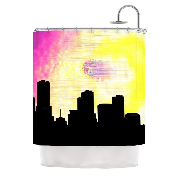 Skylined by Infinite Spray Art Shower Curtain by East Urban Home