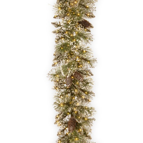 Glittery Bristle Pine Garland by Darby Home Co
