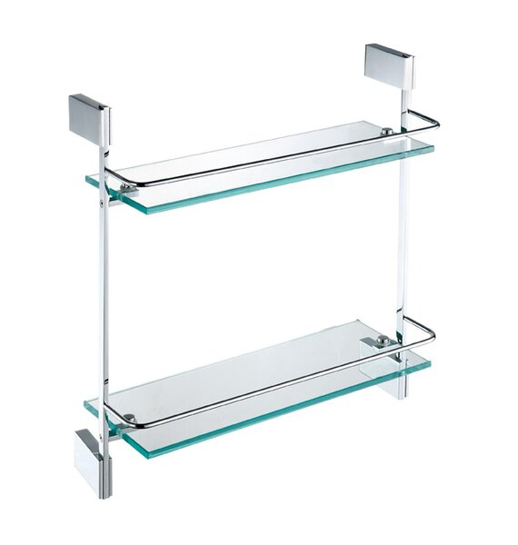 DeBennett Double Glass Wall Shelf by Orren Ellis