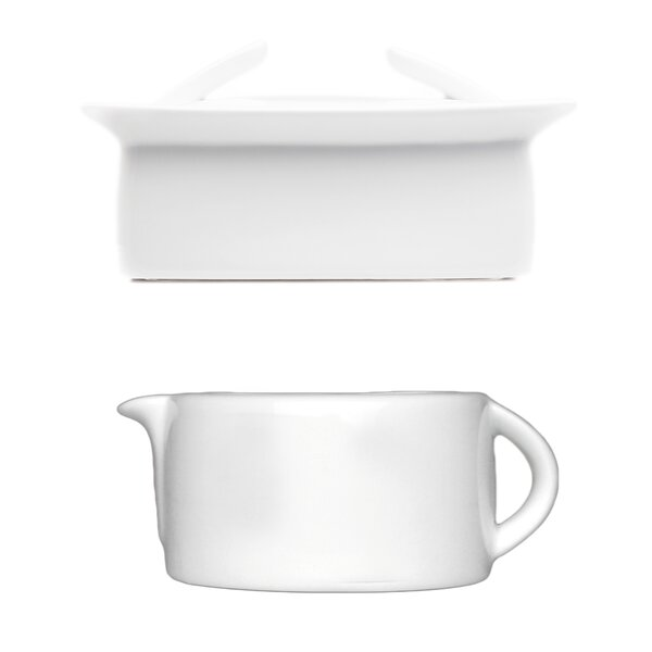 Butter Dish and Gravy/Sauce Boat 2 Piece Set by BergHOFF International