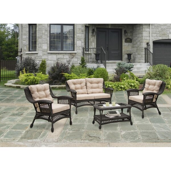Grund Outdoor Garden 4 Piece Sofa Seating Group With Cushions By August Grove