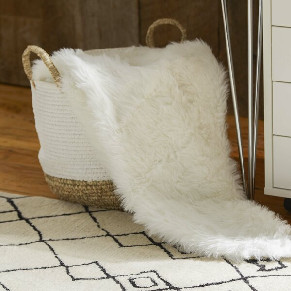 Branchville Faux Fur Throw Blanket by Greyleigh