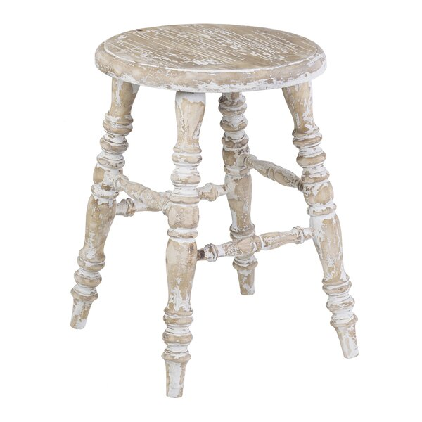 Leanna Solid Wood Accent Stool By August Grove®