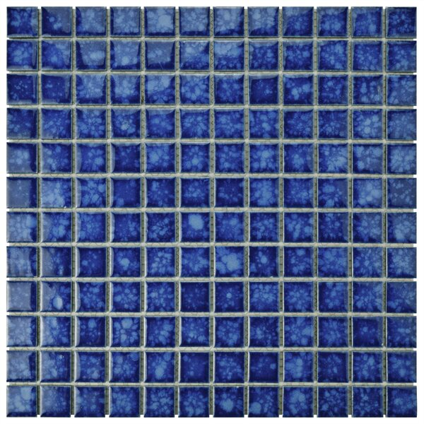 Waterfall 1 x 1 Porcelain Mosaic Tile in Pacific by EliteTile