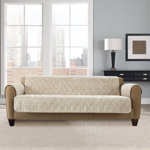 Faux Mink Furniture Box Cushion Sofa Slipcover By Sure Fit