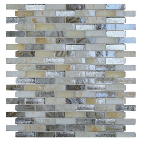 Opal 0.63 x 1.88 Glass Mosaic Tile in Seashell by Kellani