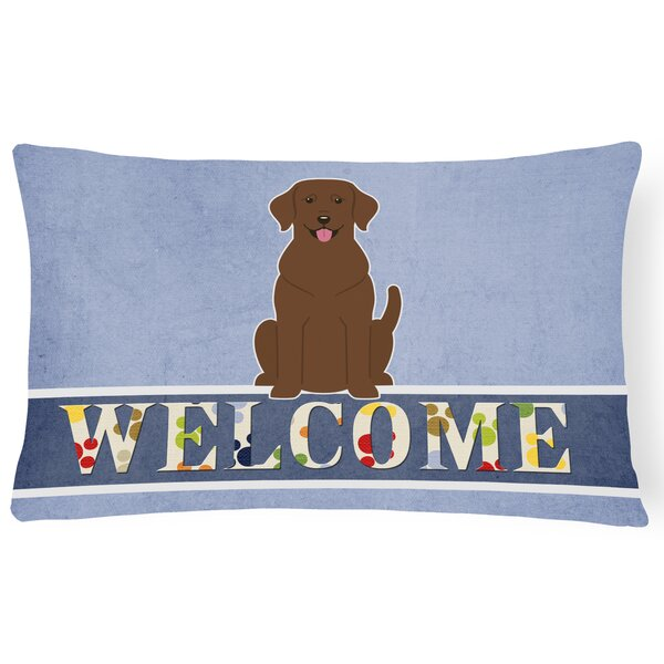 Switkes Labrador Welcome Lumbar Pillow by Red Barrel Studio